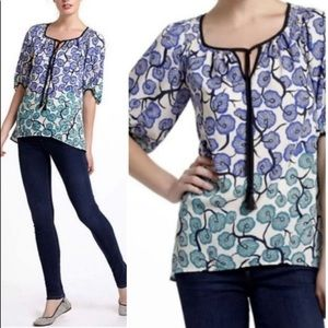 Vanessa Virginia by Anthro Ombré Floral Blouse